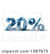 Clipart 3d Shattering Glass 20 Percent Discount Royalty Free CGI Illustration