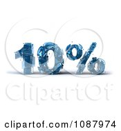 Clipart 3d Shattering Glass 10 Percent Discount Royalty Free CGI Illustration