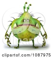 Clipart 3d Chubby Monster Or Germ Royalty Free CGI Illustration by Julos