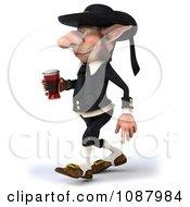 3d Korrigan Dwarf Walking Left And Holding Beer