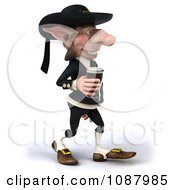3d Korrigan Dwarf Walking Right And Holding Beer