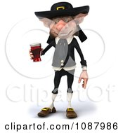 3d Korrigan Dwarf Standing And Holding Beer