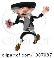 3d Korrigan Dwarf Jumping And Holding Beer