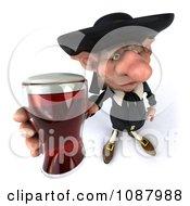 3d Korrigan Dwarf Toasting And Holding Beer
