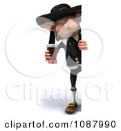 3d Korrigan Dwarf Holding A Beer With A Sign 2