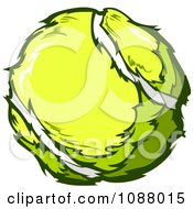Clipart Yellow Tennis Ball Royalty Free Vector Illustration by Chromaco
