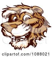 Smiling Cougar Mascot Face