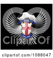 Clipart 3d Winged England Shield And Soccer Ball Royalty Free CGI Illustration