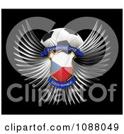 Clipart 3d Winged Czech Republic Shield And Soccer Ball Royalty Free CGI Illustration