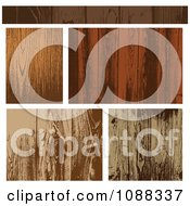Clipart Wooden Plank Textures Royalty Free Vector Illustration