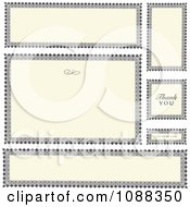 Clipart Beige And Black Wedding Frames With Copyspace And Thank You Text Royalty Free Vector Illustration