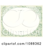 Clipart Green Oval Victorian Floral Frame With Copyspace Royalty Free Vector Illustration