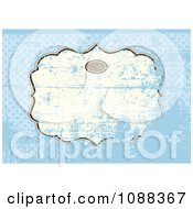 Clipart Grunge Over A Frame On Blue Royalty Free Vector Illustration