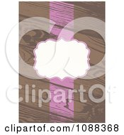 Clipart White And Pink Frame And Stripe On Wooden Planks Royalty Free Vector Illustration by BestVector