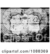 Clipart Grunge Over A Frame On Gray Royalty Free Vector Illustration