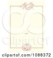 Pink Victorian Cupid Wedding Or Valentine Frame On Beige