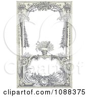 Clipart Vintage Victorian Frame With A Floral Urn Royalty Free Vector Illustration