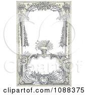 Vintage Victorian Frame With A Floral Urn