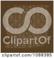 Brown Distressed Damask Background