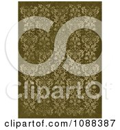 Distressed Green Damask Pattern Background