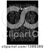 Clipart Distressed Black And White Damask Pattern Background Royalty Free Vector Illustration