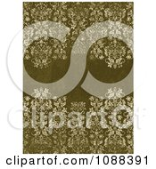 Clipart Distressed Green Damask Pattern Royalty Free Vector Illustration