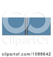 Clipart Open Blue 3d Spiral Notebook Royalty Free Illustration