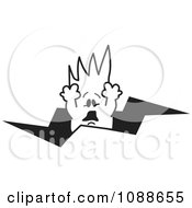 Clipart Squiggle Guy Falling Through A Crack Royalty Free Vector Illustration by Toons4Biz