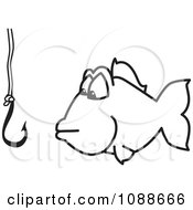 Clipart Squiggle Hook Fishing For Business Royalty Free Vector Illustration by Toons4Biz