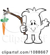 Clipart Squiggle Guy Dangling A Carrot Royalty Free Vector Illustration by Toons4Biz