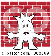 Clipart Squiggle Guy With His Back Up Against The Wall Royalty Free Vector Illustration by Toons4Biz