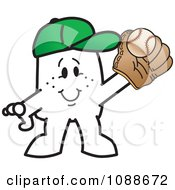 Clipart Squiggle Guy Playing Baseball Royalty Free Vector Illustration by Toons4Biz