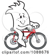 Clipart Squiggle Guy Riding A Bike Royalty Free Vector Illustration by Toons4Biz