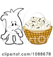 Clipart Squiggle Guy With Broken Eggs All In One Basket Royalty Free Vector Illustration by Toons4Biz