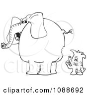 Clipart Squiggle Guy So Hungry Hes Eating An Elephant Royalty Free Vector Illustration by Toons4Biz