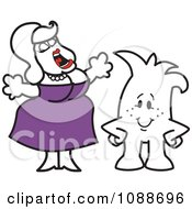 Clipart Squiggle Guy By A Fat Lady Singing Royalty Free Vector Illustration by Toons4Biz