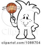 Clipart Squiggle Guy Spinning A Basketball Royalty Free Vector Illustration by Toons4Biz