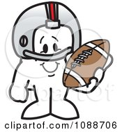 Clipart Squiggle Guy Football Player Royalty Free Vector Illustration by Toons4Biz