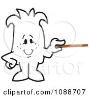 Clipart Squiggle Guy Holding A Pointer Stick Royalty Free Vector Illustration by Toons4Biz