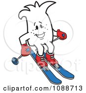 Clipart Squiggle Guy Skiing Royalty Free Vector Illustration by Toons4Biz