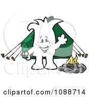 Clipart Squiggle Guy Camping Royalty Free Vector Illustration by Toons4Biz