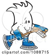 Clipart Squiggle Guy Playing Ice Hockey Royalty Free Vector Illustration by Toons4Biz