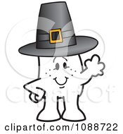 Clipart Thanksgiving Squiggle Guy Wearing A Pilgrim Hat Royalty Free Vector Illustration by Toons4Biz