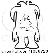 Clipart Sad Crying Squiggle Guy Royalty Free Vector Illustration by Toons4Biz
