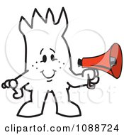 Clipart Squiggle Guy Holding A Megaphone Royalty Free Vector Illustration by Toons4Biz
