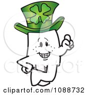 Clipart St Patricks Day Squiggle Guy Leprechaun Royalty Free Vector Illustration by Toons4Biz