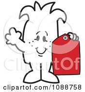 Squiggle Guy Holding A Price Tag