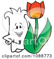 Squiggle Guy With A Tulip