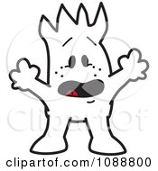 Clipart Surprised Squiggle Guy Royalty Free Vector Illustration by Toons4Biz