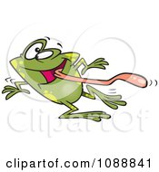 Clipart Dizzy Frog Having Fun On Dance Day Royalty Free Vector Illustration by toonaday